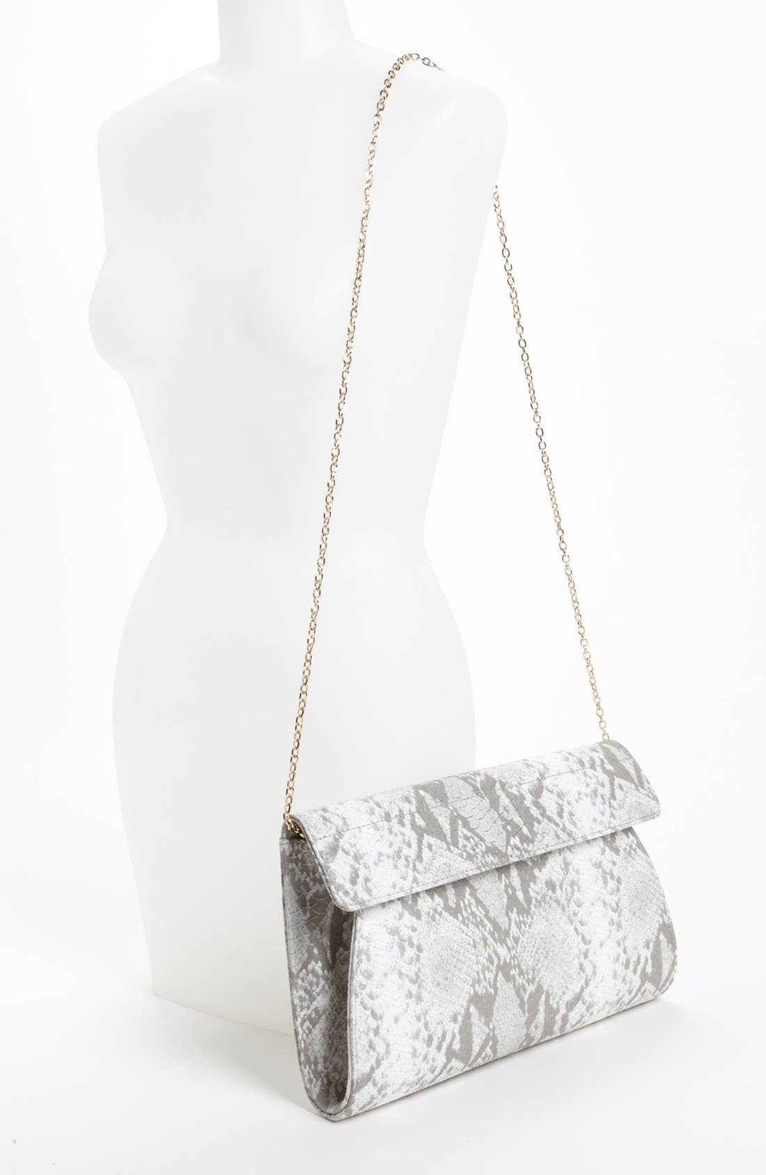 Alternate Image 2  - Urban Expressions Handbags Snake Embossed Clutch