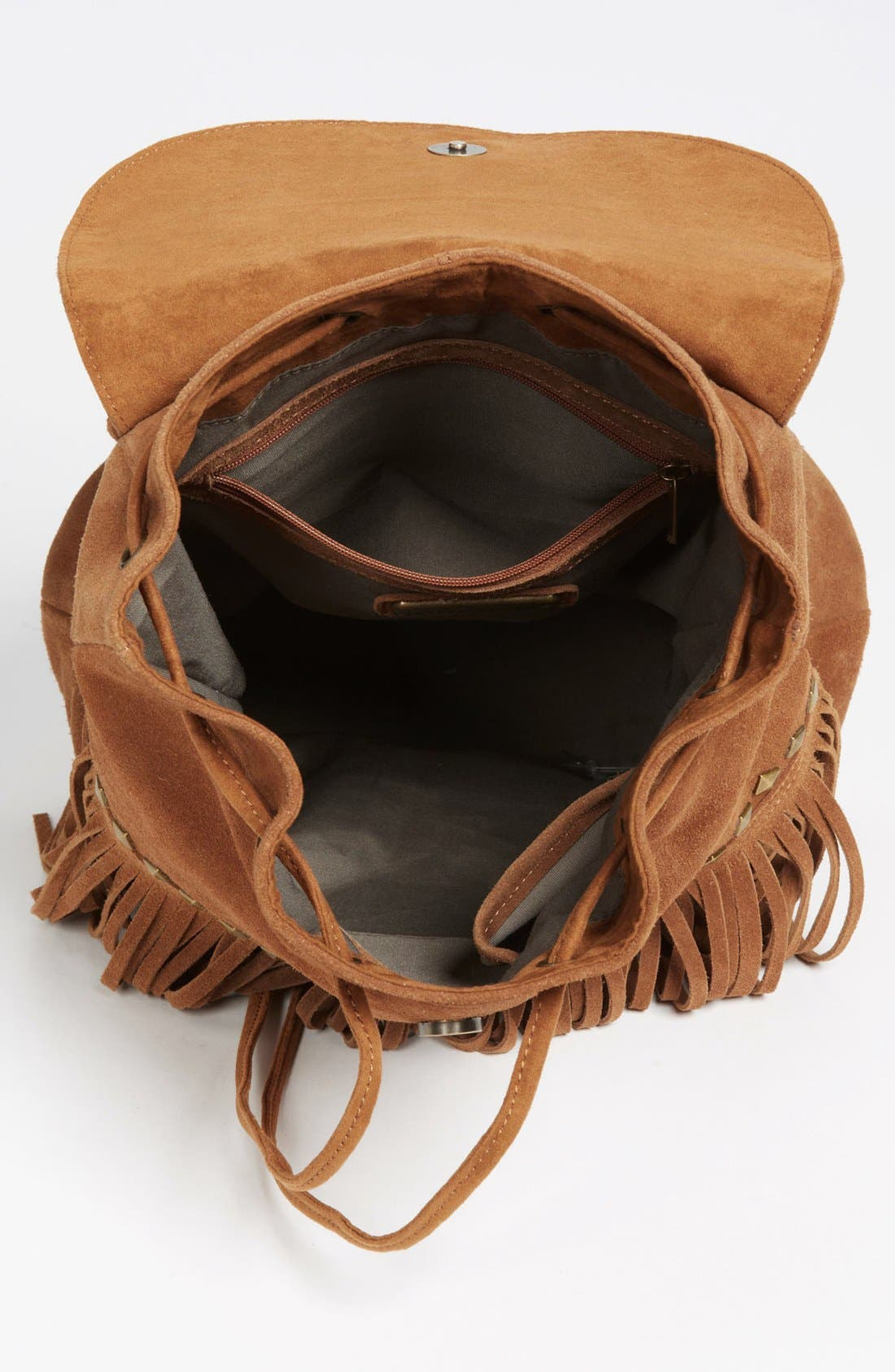 Alternate Image 3  - Steve Madden Fringed Suede Backpack (Juniors)