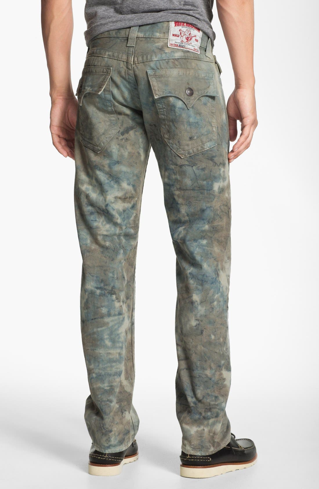 Alternate Image 1 Selected - True Religion Brand Jeans 'Ricky' Straight Leg Jeans (Olive)