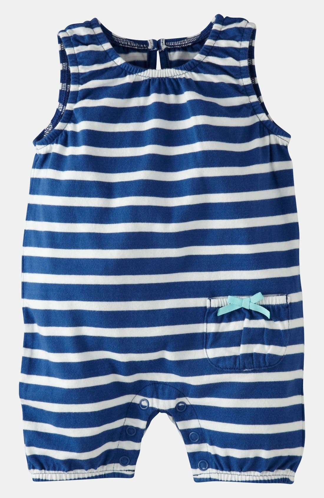 Main Image - Mini Boden 'Pretty' Jersey Coveralls (Baby)