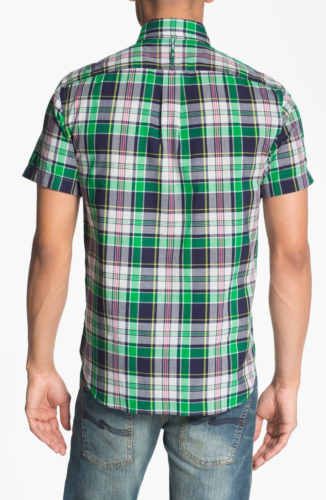 Alternate Image 3  - J. Press York Street Short Sleeve Plaid Cotton Shirt