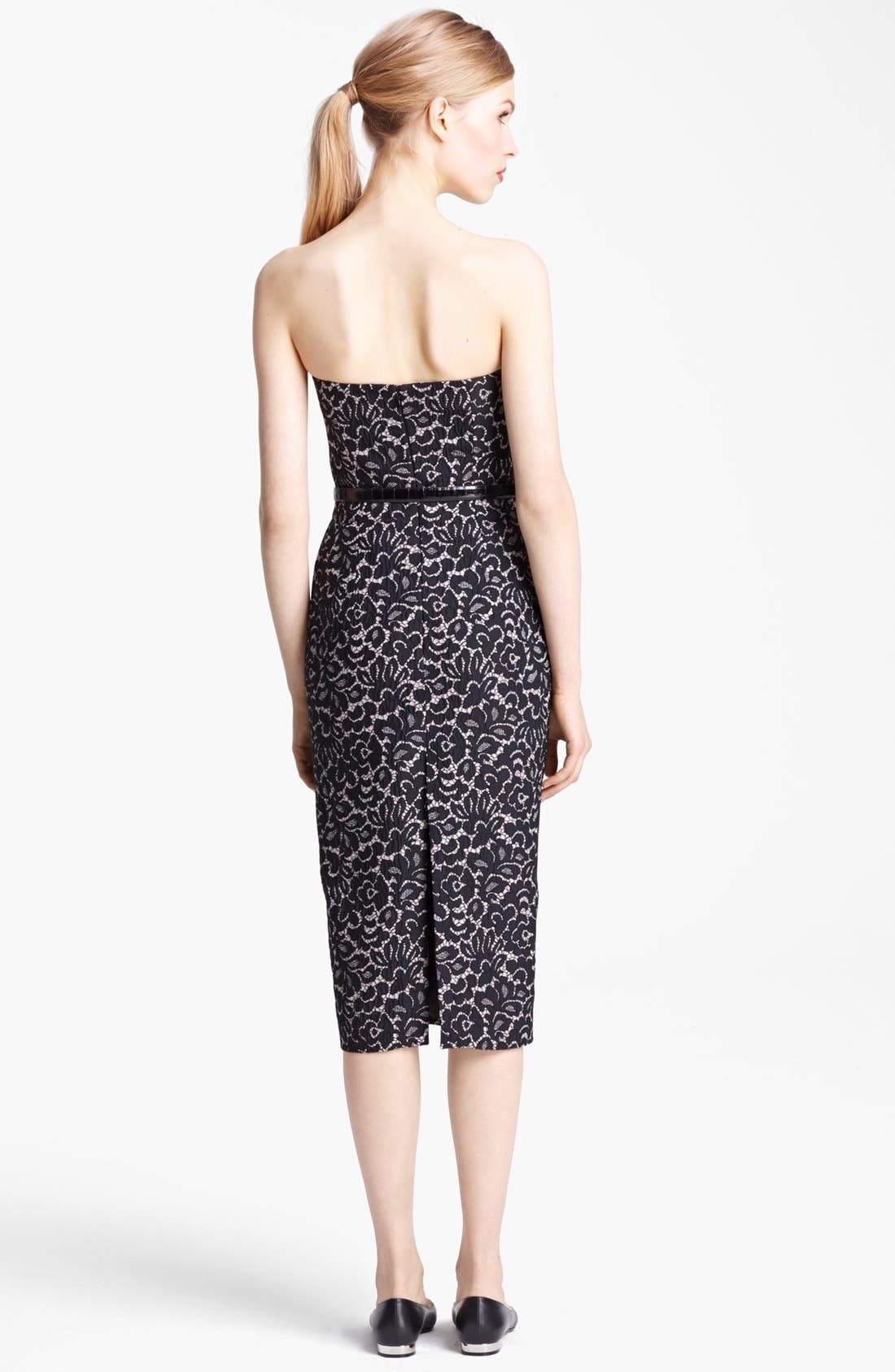 Alternate Image 2  - Michael Kors Strapless Featherweight Lace Jacquard Dress