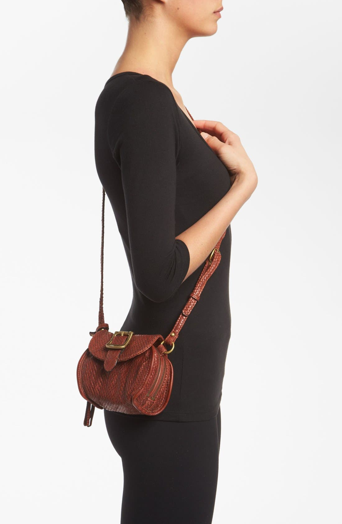 Alternate Image 2  - Frye Snake Texture Crossbody Bag