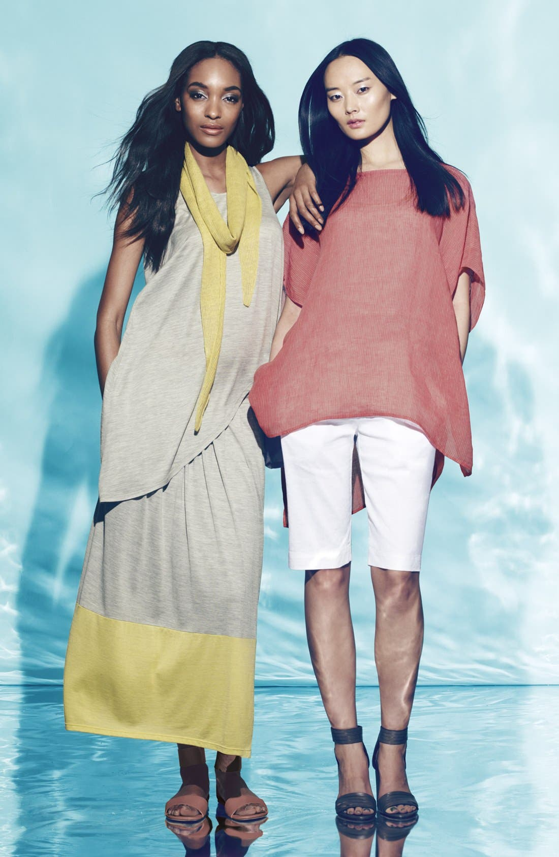 Alternate Image 1 Selected - Eileen Fisher Tunic, Tank & Walking Shorts