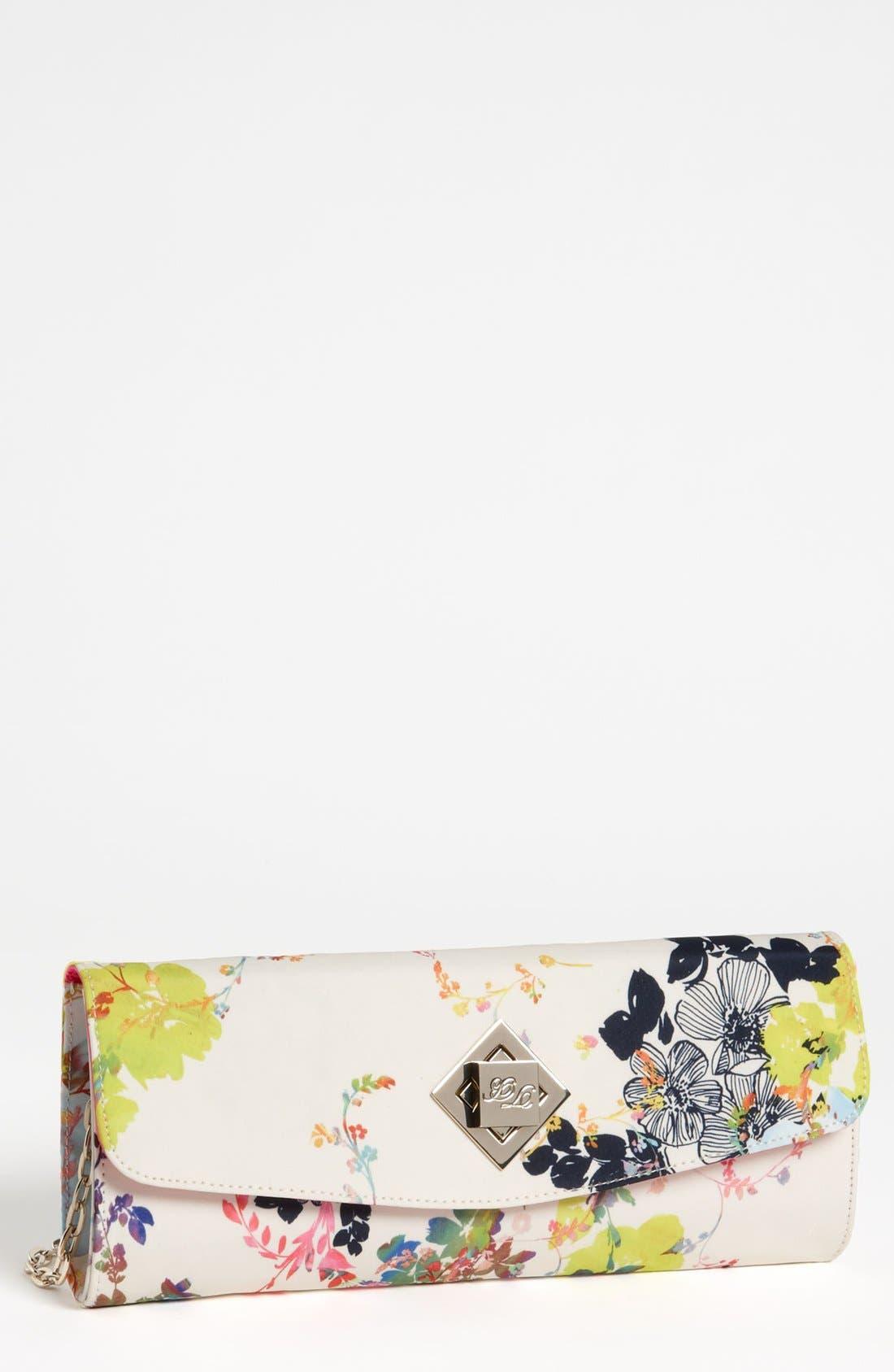 Main Image - Ted Baker London 'Summer Bloom' Twist Lock Envelope Clutch