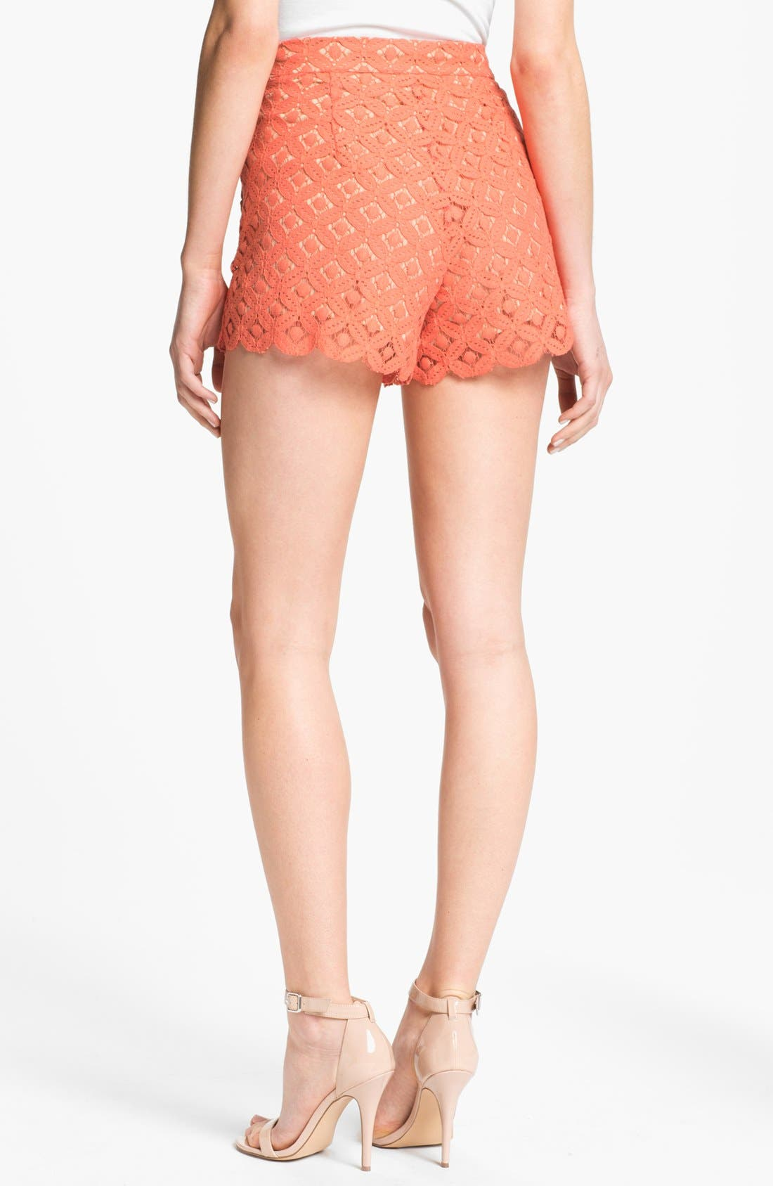 Alternate Image 2  - Two by Vince Camuto Pleated Lace Shorts