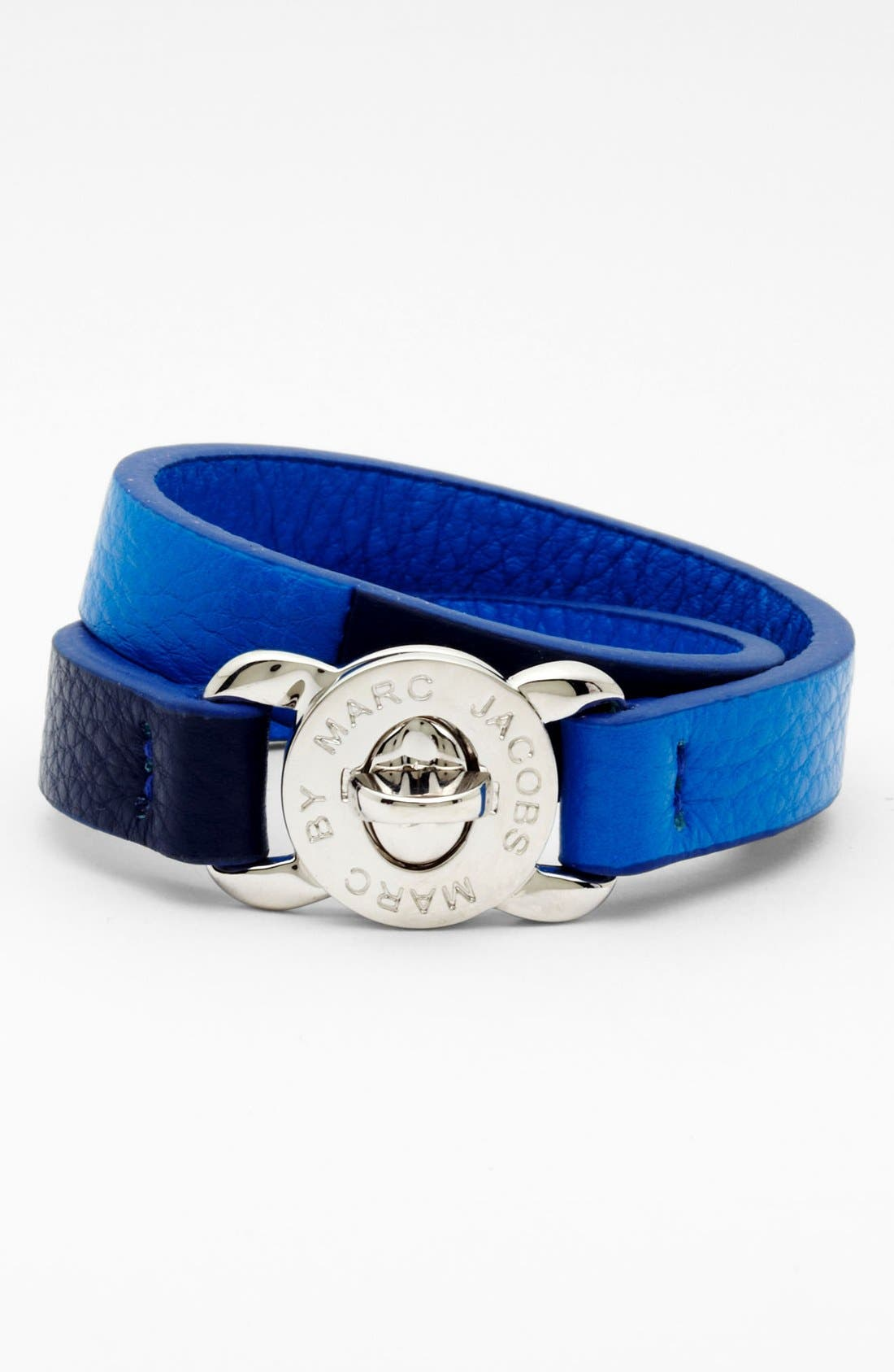 Alternate Image 1 Selected - MARC BY MARC JACOBS 'Turnlock - Katie' Leather Wrap Bracelet