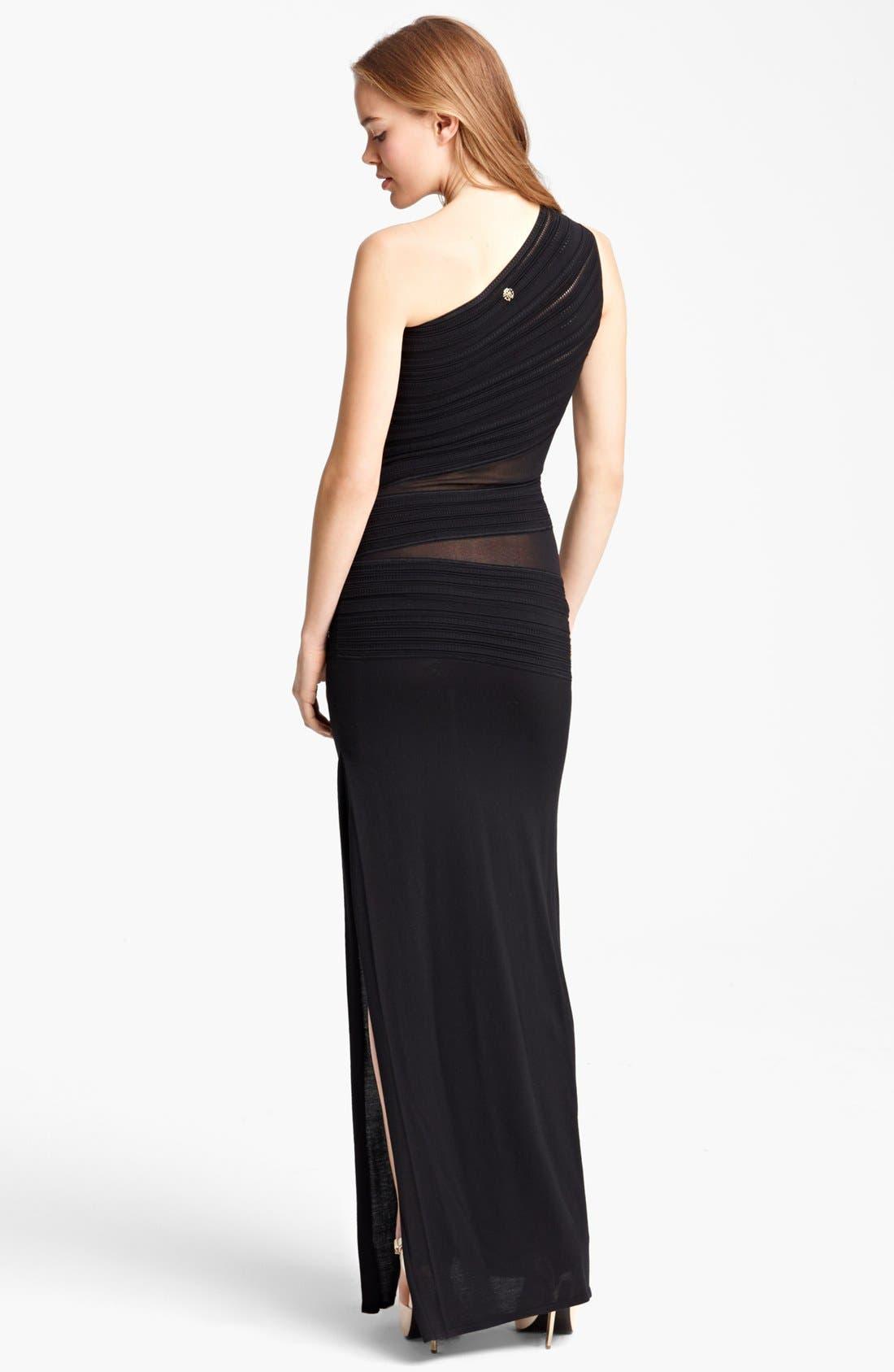 Alternate Image 2  - Roberto Cavalli Sheer Inset One Shoulder Gown