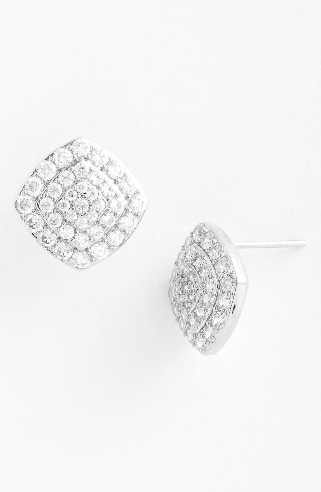 Alternate Image 1 Selected - Nadri Square Stud Earrings