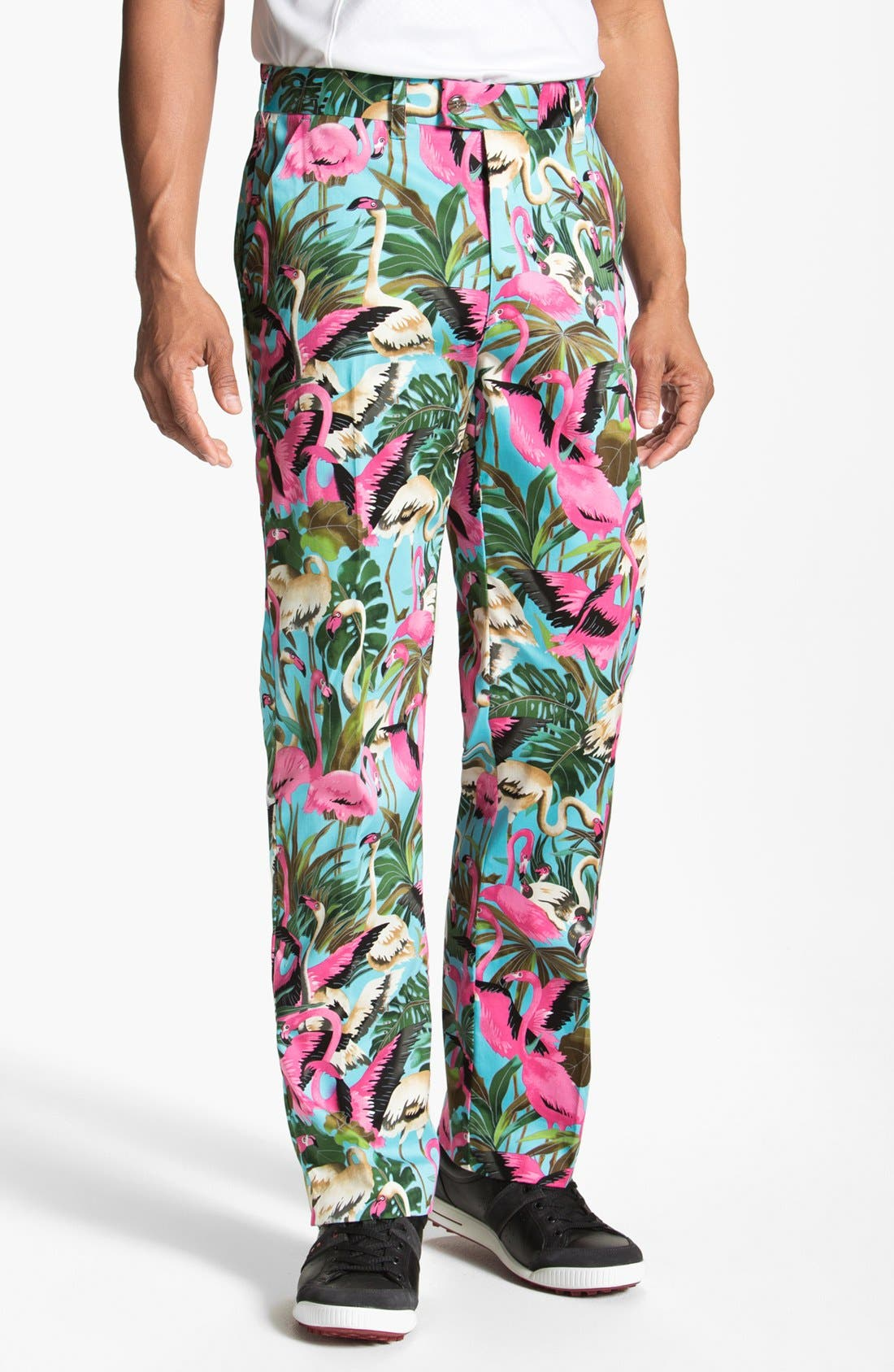 Main Image - Loudmouth Golf 'Pink Flamingo' Pants