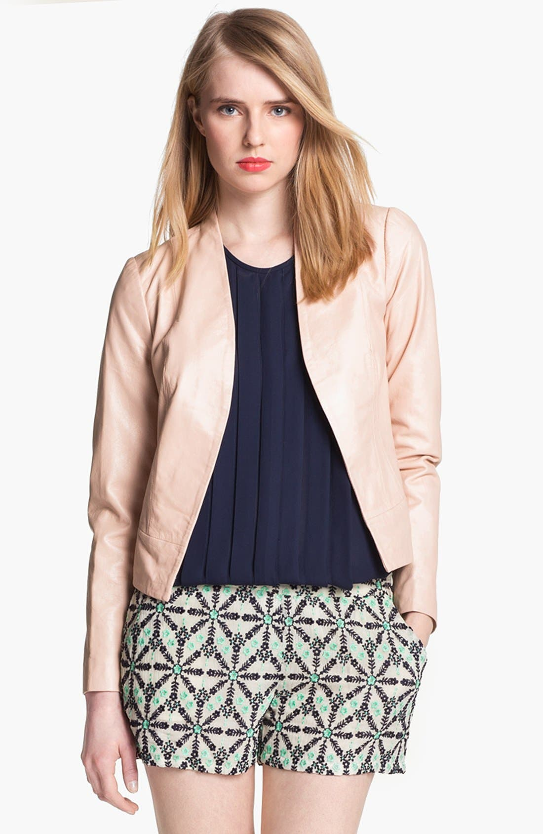 Alternate Image 1 Selected - Joie 'Venette' Crop Leather Jacket