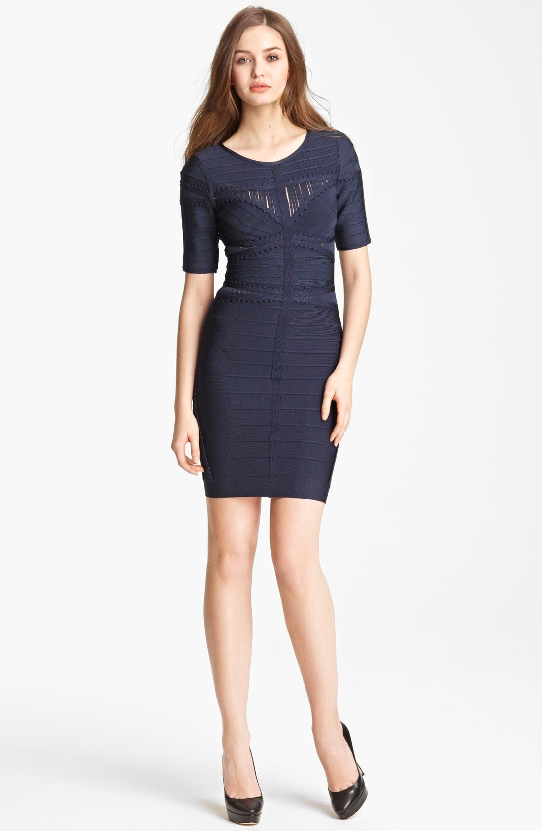 Main Image - Herve Lege Scalloped Detail Bandage Dress