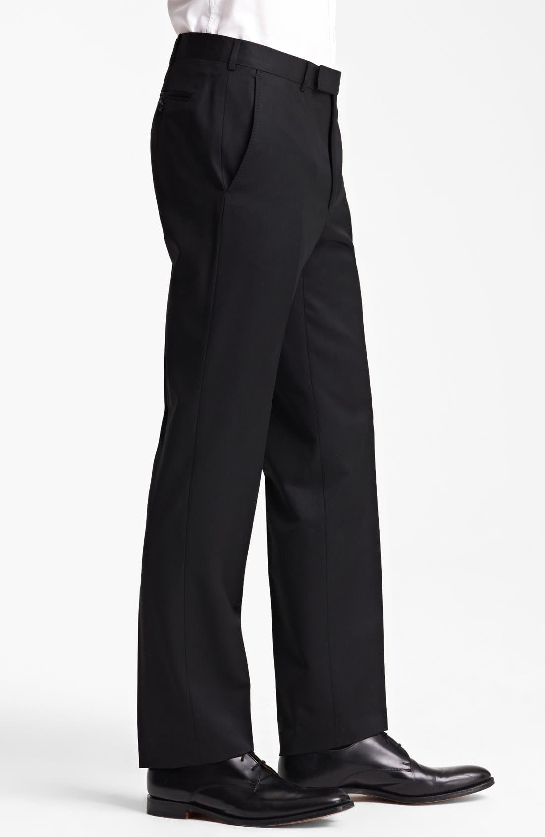 Alternate Image 3  - Z Zegna Flat Front Trousers