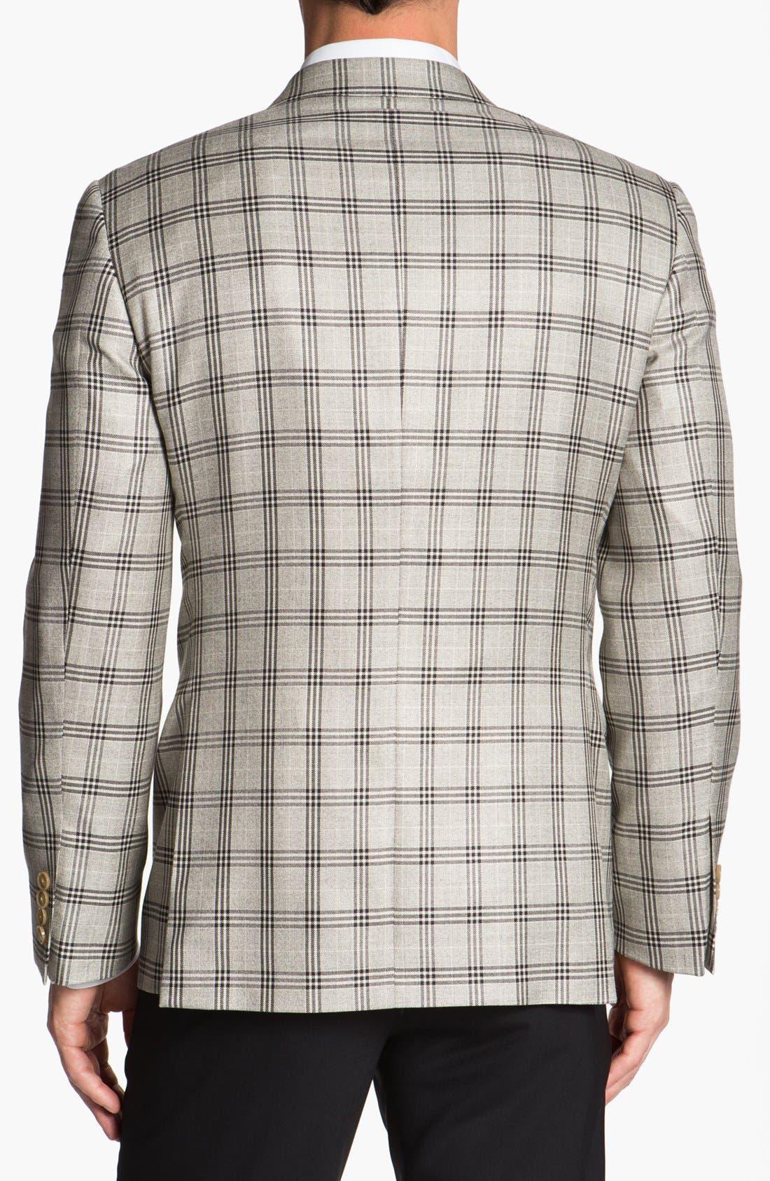 Alternate Image 3  - Joseph Abboud 'Platinum' Plaid Wool Sportcoat