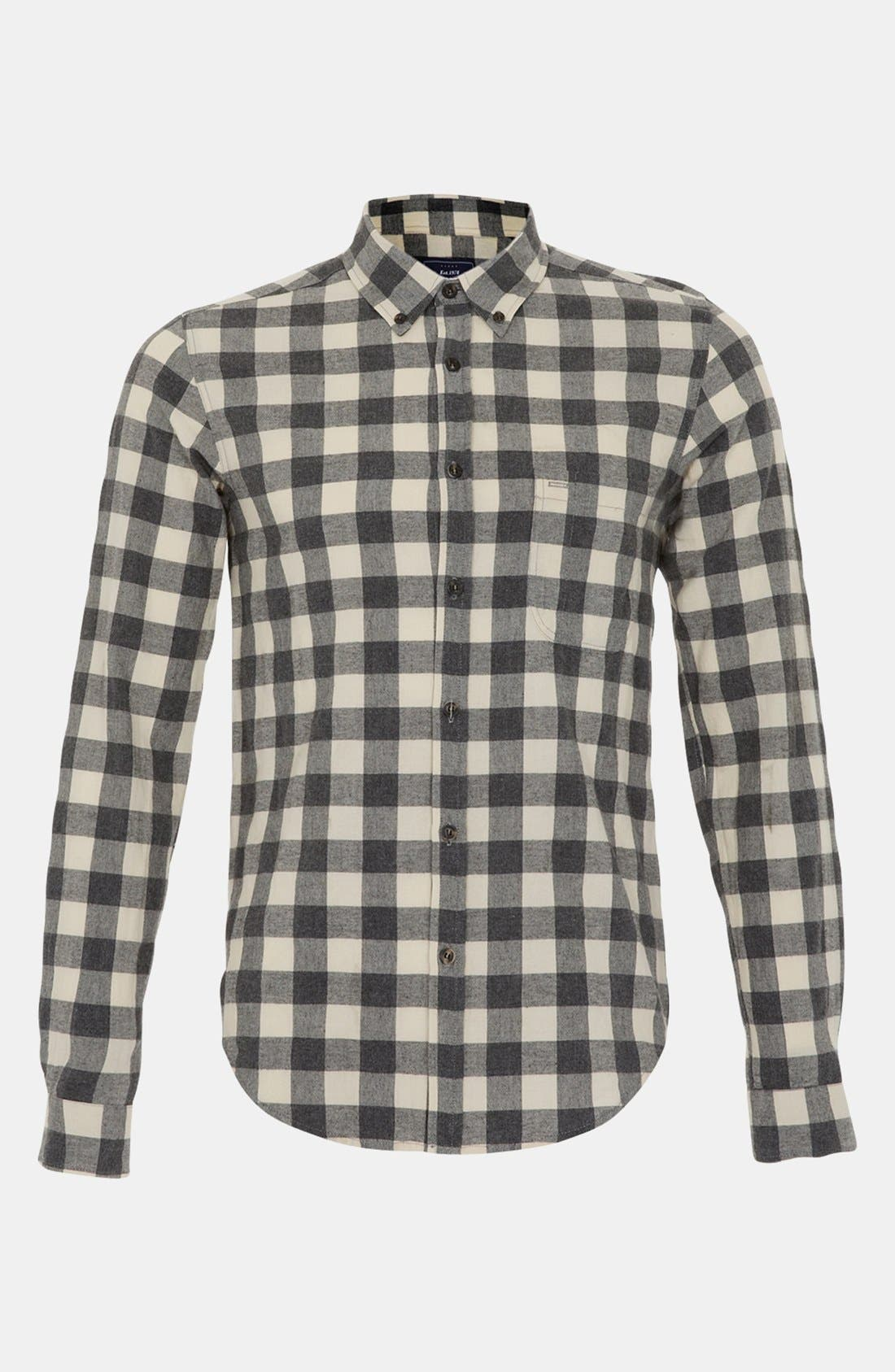 Alternate Image 1 Selected - Topman Gingham Shirt
