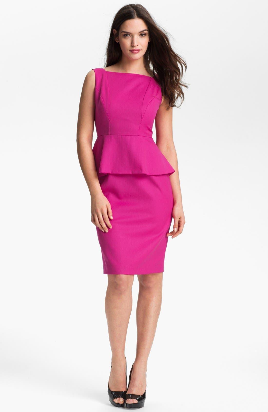 Alternate Image 1 Selected - Anne Klein Peplum Sheath Dress (Petite)