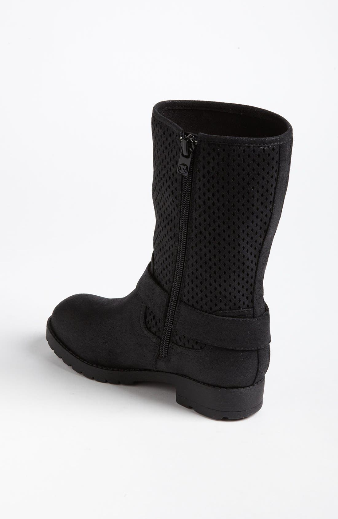 Alternate Image 2  - MICHAEL Michael Kors Perforated Shaft Boot (Toddler, Little Kid & Big Kid) (Online Only)