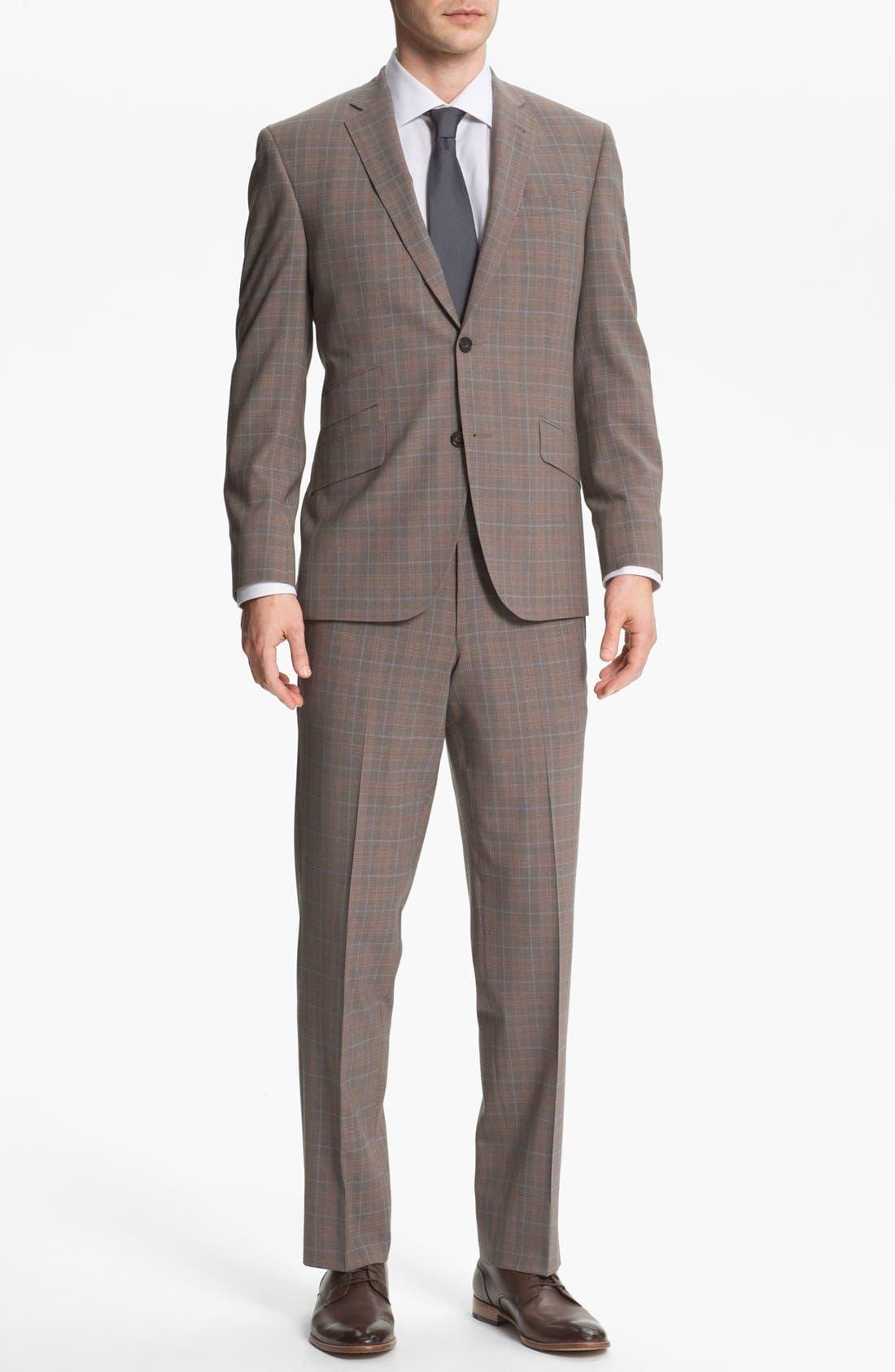 Alternate Image 2  - Ted Baker London Trim Fit Plaid Suit