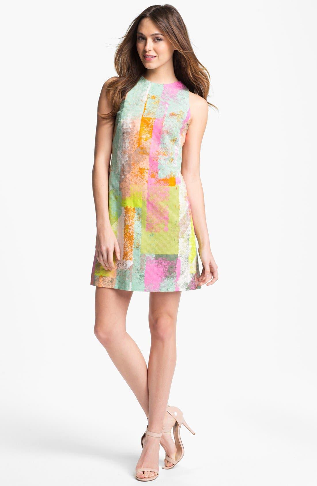 Alternate Image 1 Selected - Maggy London Print Shift Dress