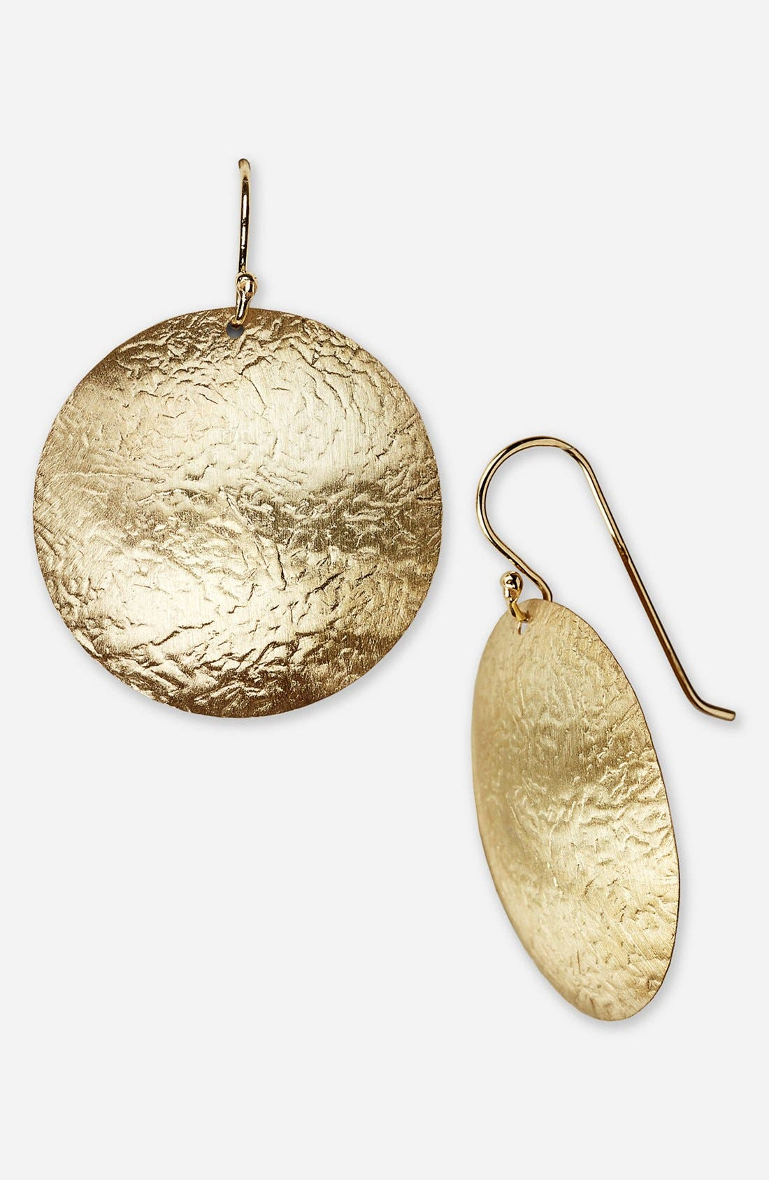 Alternate Image 1 Selected - Argento Vivo Hammered Drop Earrings