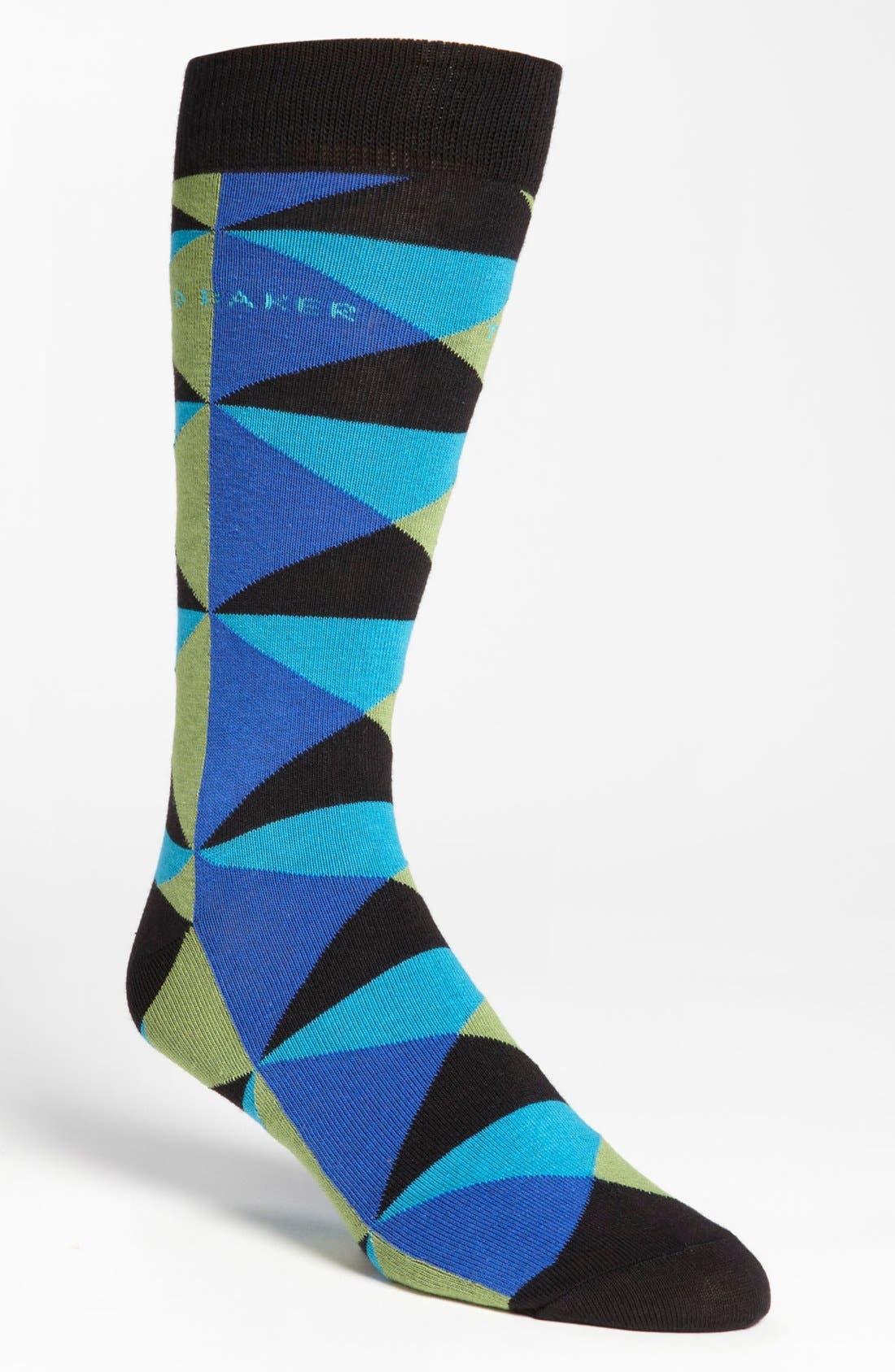 Alternate Image 1 Selected - Ted Baker London Diamond Pattern Socks