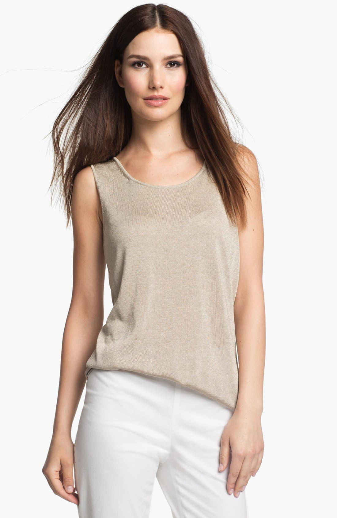 Alternate Image 1 Selected - Lafayette 148 New York 'Pure Radiance' Tank