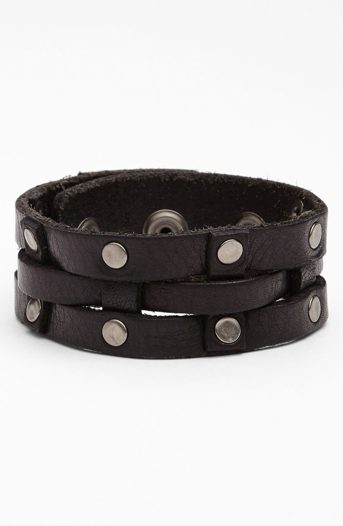 Alternate Image 1 Selected - Will Leather Goods Leather Cuff Bracelet