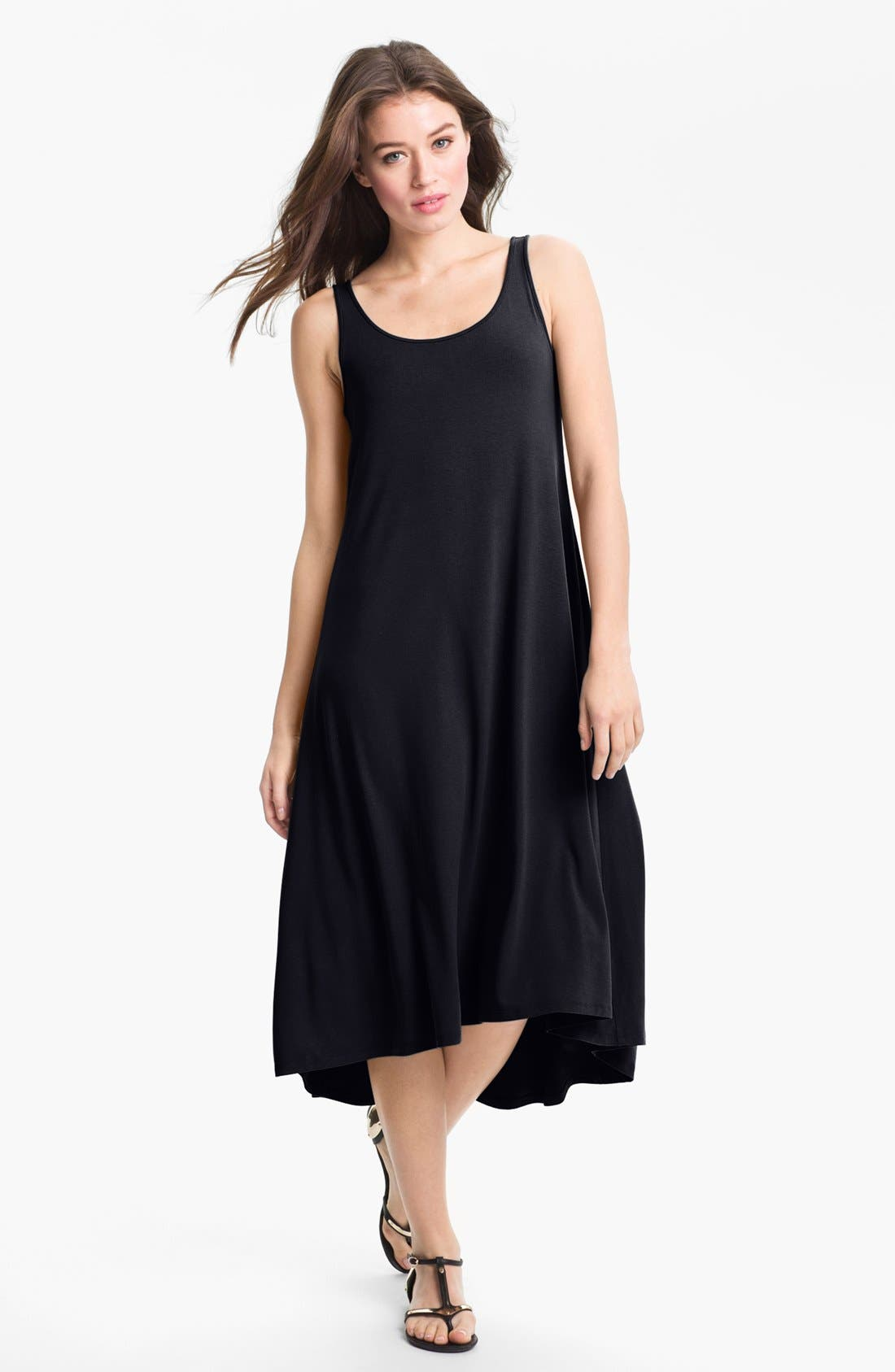 Alternate Image 1 Selected - Eileen Fisher Scoop Neck Tank Dress