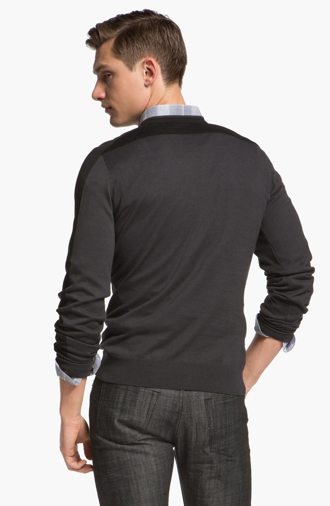 Alternate Image 2  - Z Zegna Colorblock Sweater