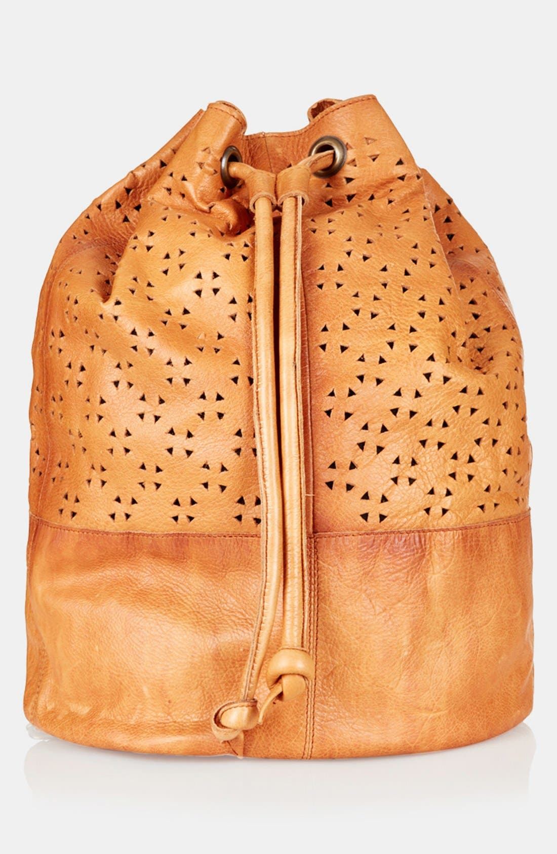 Main Image - Topshop Perforated Leather Backpack