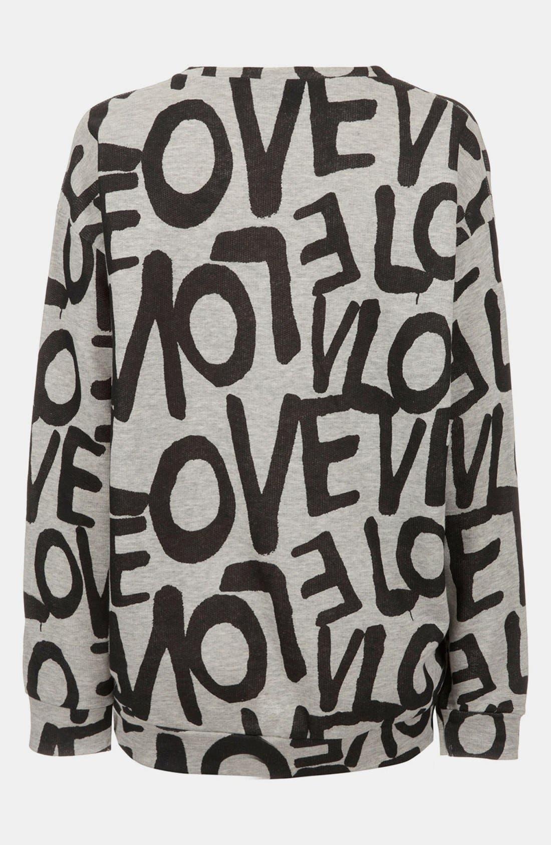 Alternate Image 2  - Topshop 'Love' Maternity Sweatshirt