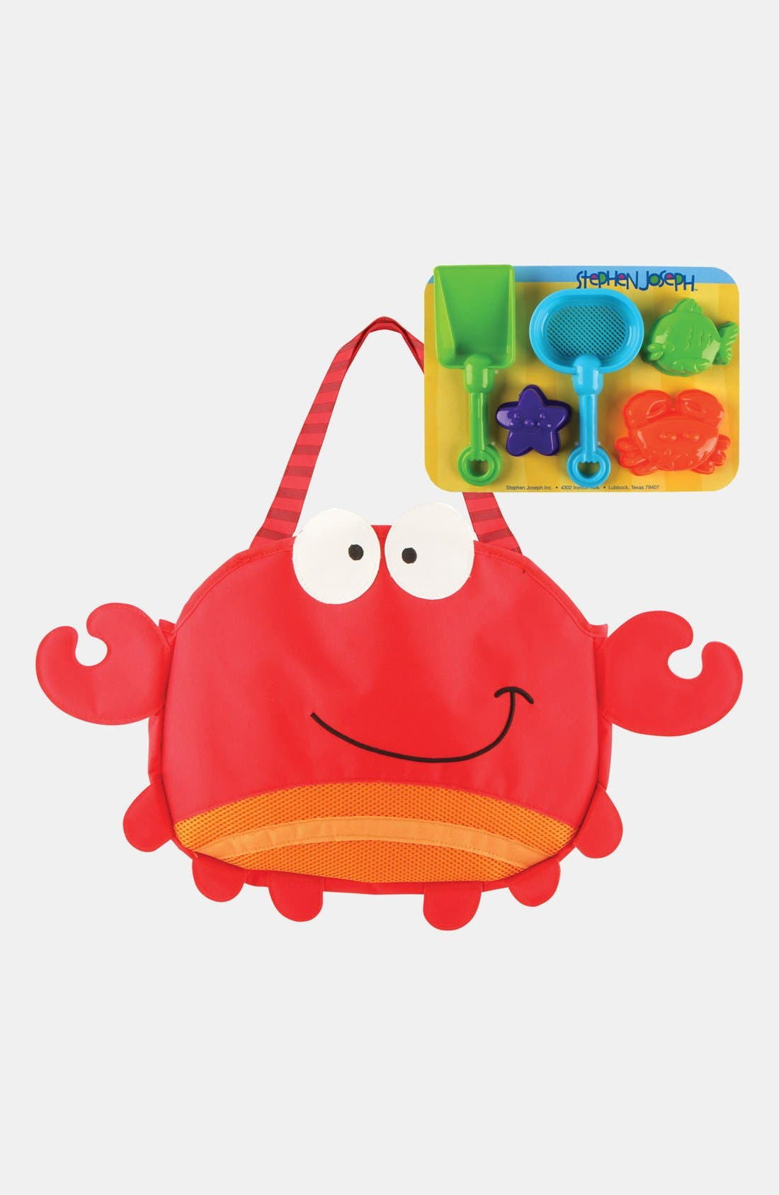 Alternate Image 3  - Stephen Joseph 'Crab' Beach Tote & Toys