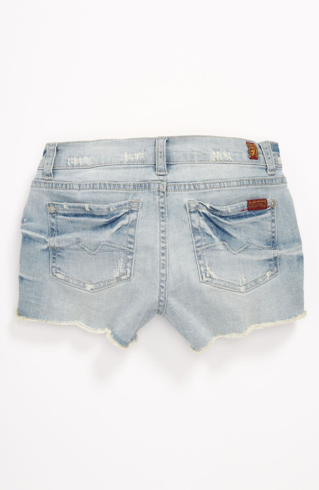 Alternate Image 1 Selected - 7 For All Mankind® 'Del Shorty' Shorts (Big Girls)