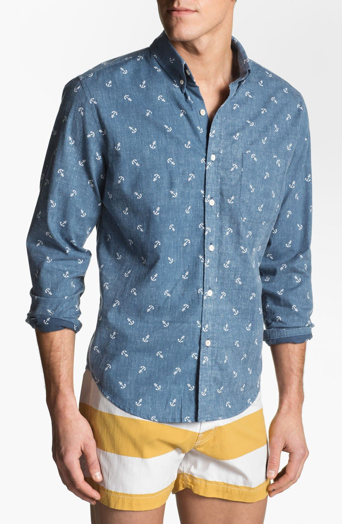 Alternate Image 1 Selected - Altru 'Anchors' Print Woven Shirt