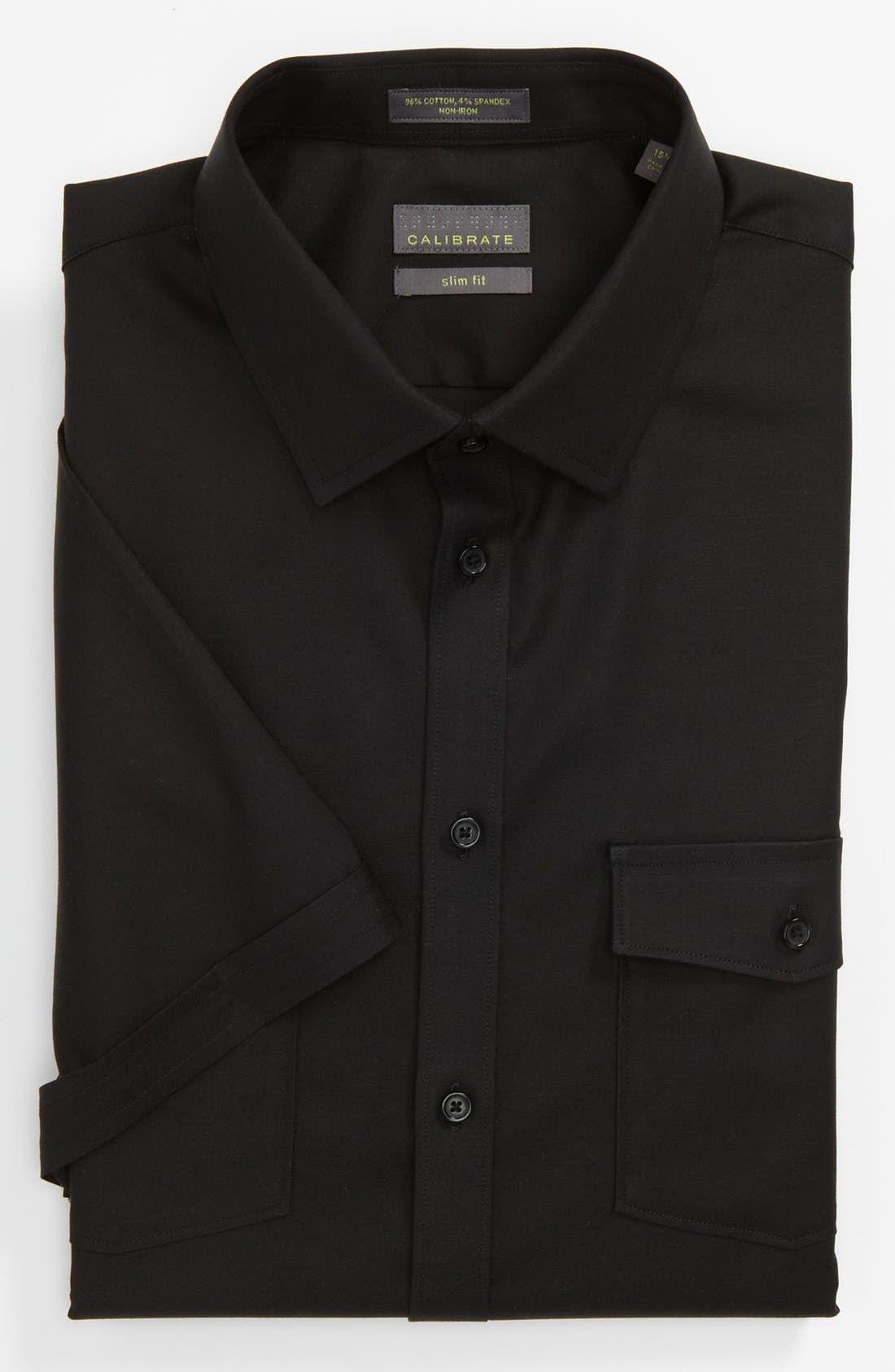 Main Image - Calibrate Slim Fit Non-Iron Short Sleeve Shirt