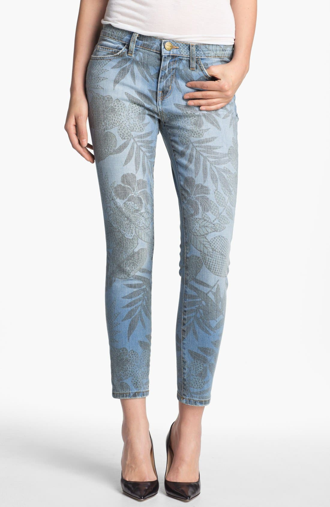 Alternate Image 1 Selected - Current/Elliott 'The Stiletto' Jungle Print Stretch Jeans