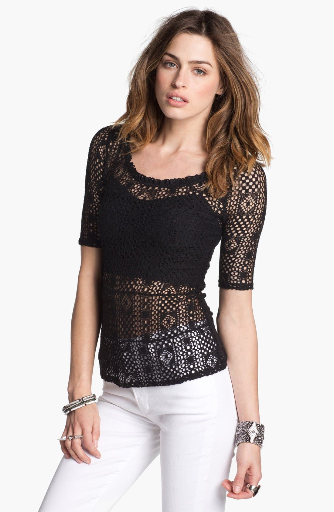 Alternate Image 1 Selected - Free People 'Geolace' Top