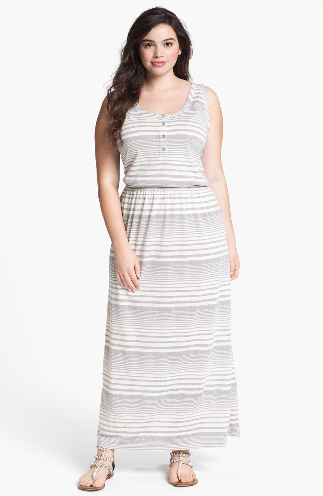 Alternate Image 1 Selected - Two by Vince Camuto Stripe Maxi Dress (Plus Size)