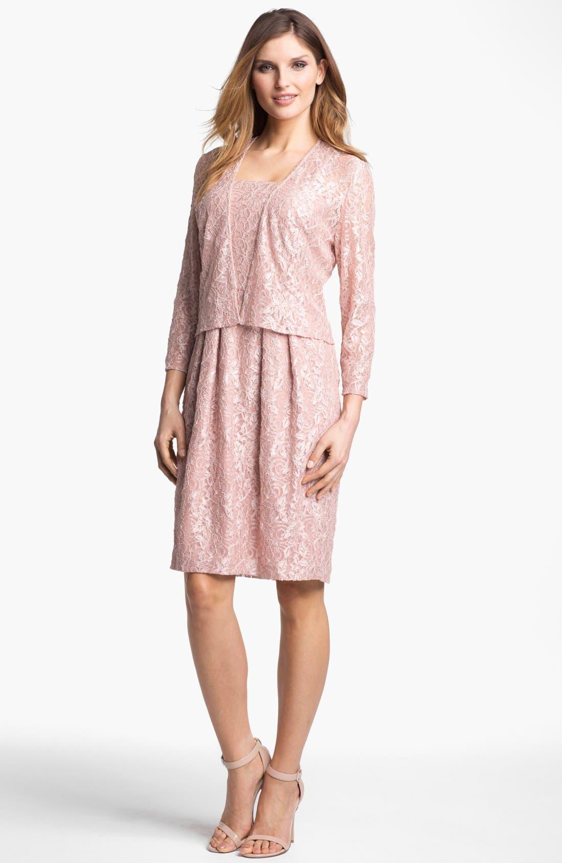Alternate Image 1 Selected - Alex Evenings Lace Dress & Jacket