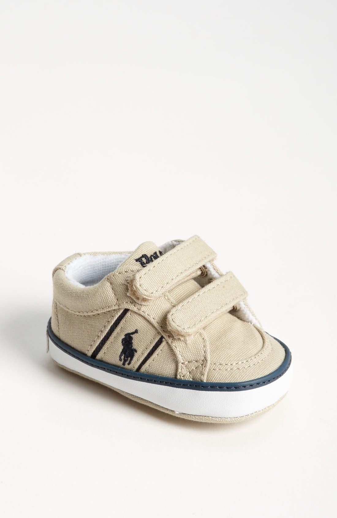 Alternate Image 1 Selected - Ralph Lauren Layette Crib Shoe (Baby)