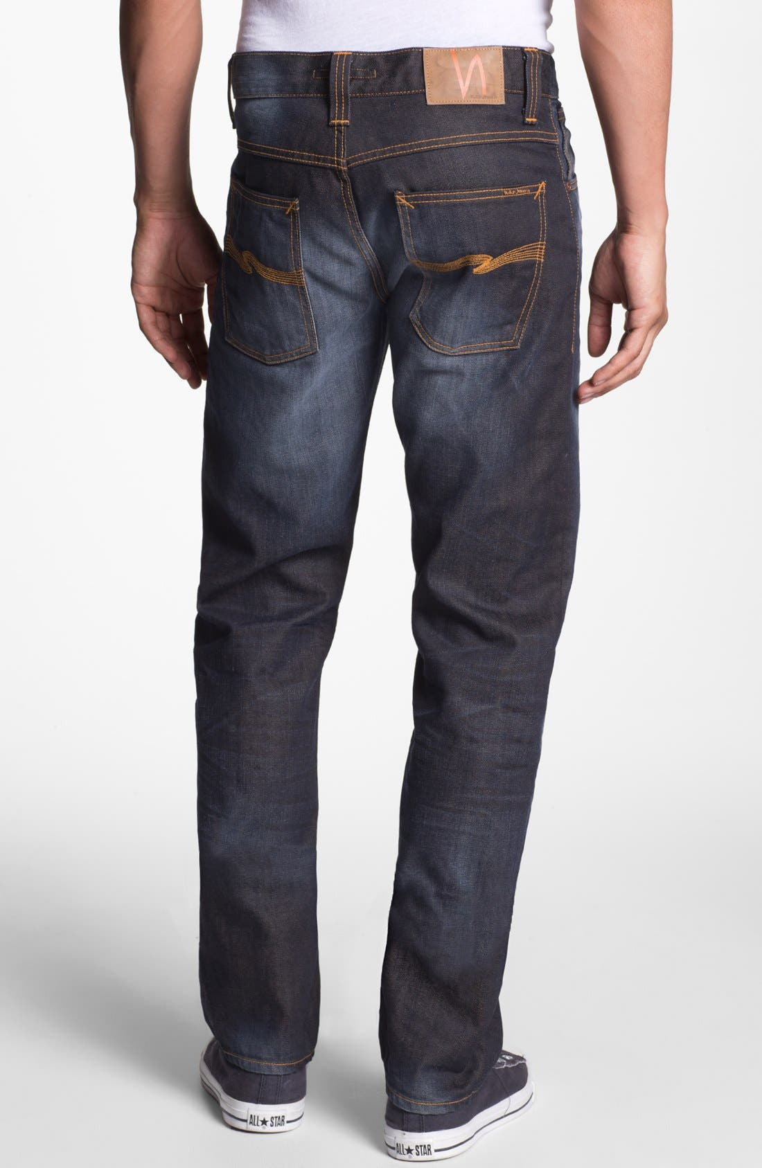 Alternate Image 1 Selected - Nudie Jeans 'Average Joe' Straight Leg Jeans (Organic Steve Replica)