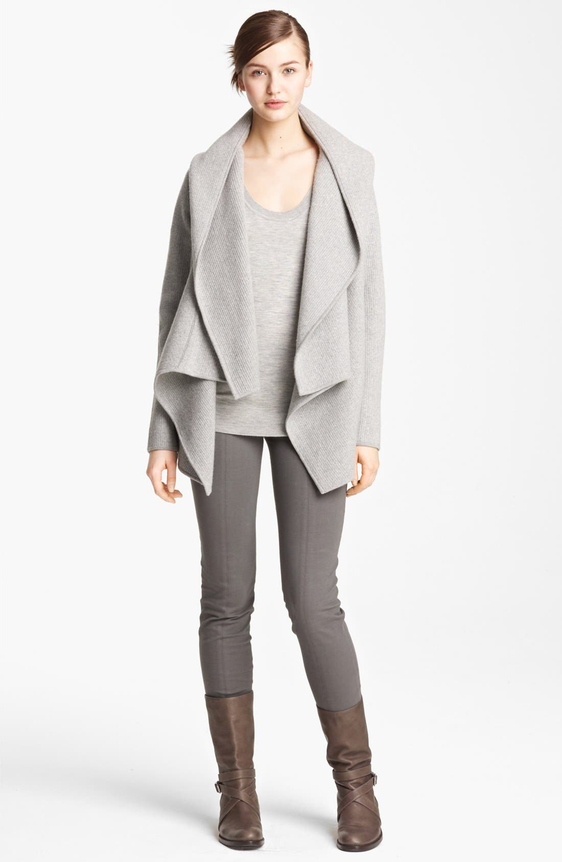 Alternate Image 2  - Donna Karan Collection Hooded Cashmere Cozy