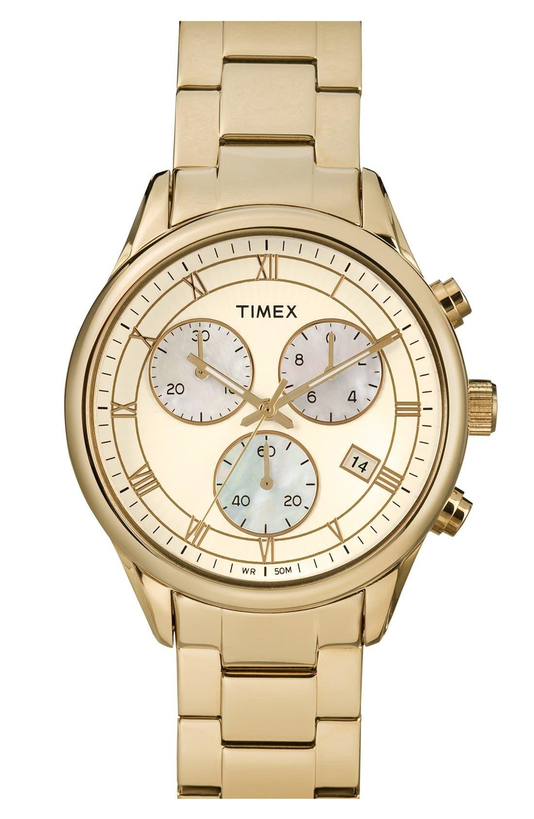 Main Image - Timex® Round Chronograph Bracelet Watch, 39mm