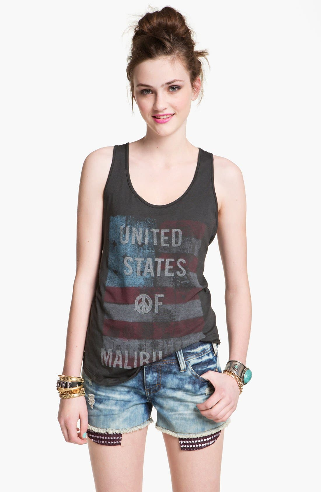 Alternate Image 1 Selected - Malibu Native 'United States of Malibu' Tank (Juniors)