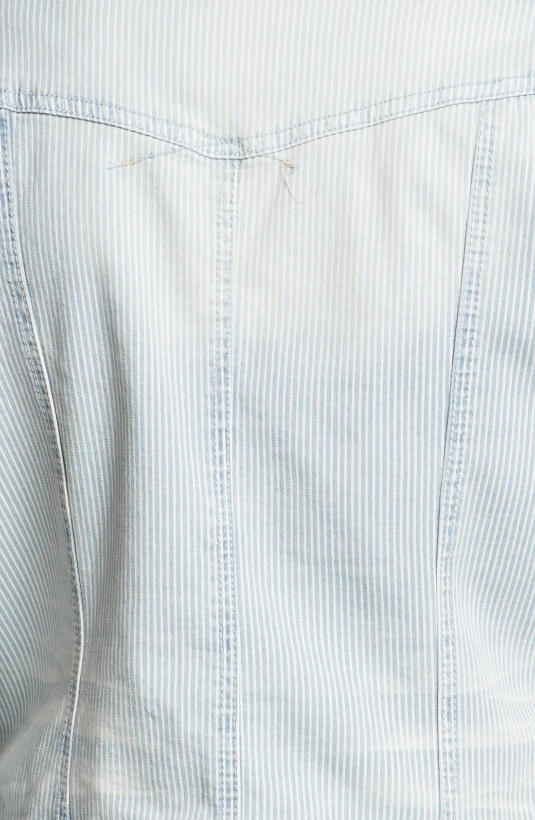 Alternate Image 3  - Jou Jou Railroad Denim Jacket (Juniors)