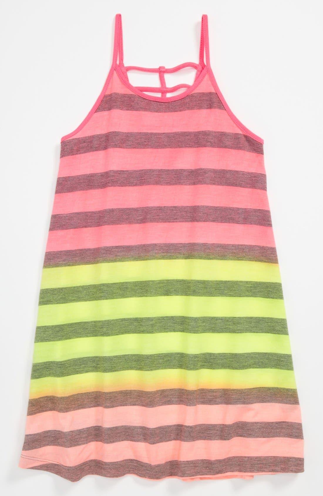 Alternate Image 1 Selected - Flowers by Zoe Neon Stripe Dress (Little Girls)