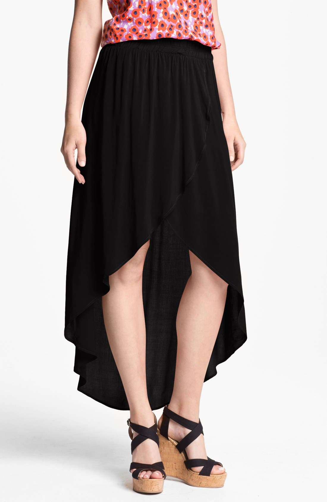 Alternate Image 1 Selected - Splendid High/Low Faux Wrap Skirt