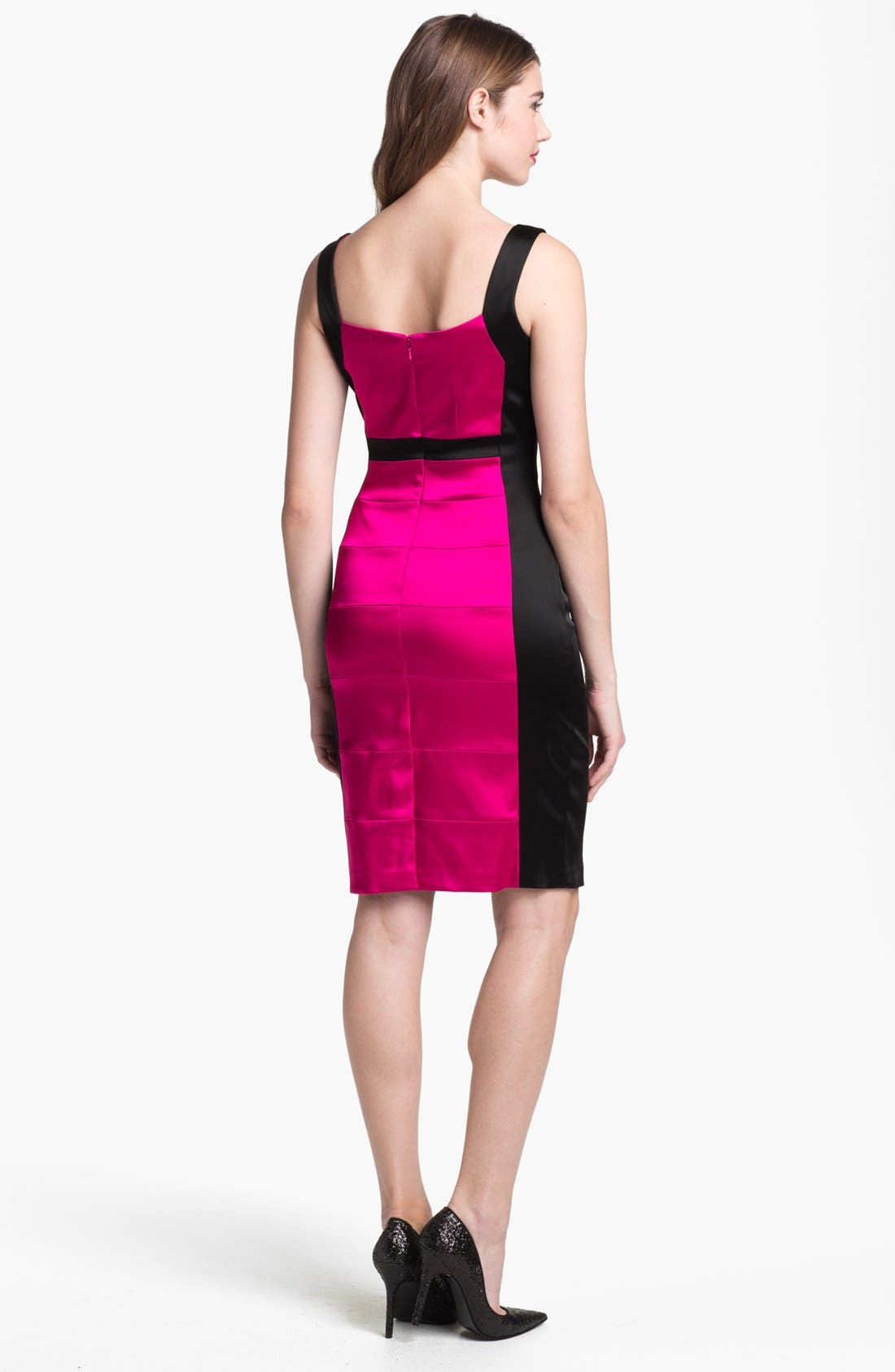 Alternate Image 2  - JAX Colorblock Seamed Sleeveless Sheath Dress