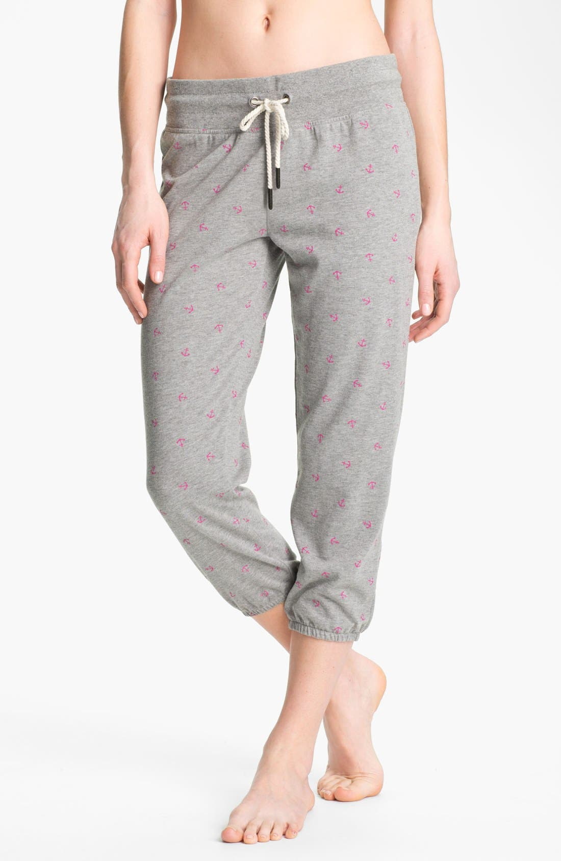 Main Image - Roxy 'Randomness' Cropped Fleece Pants
