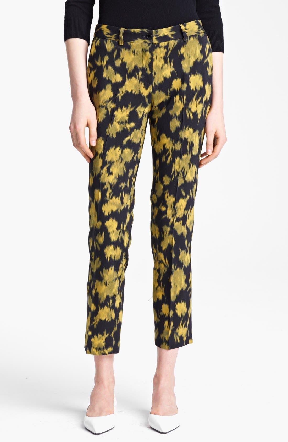 Main Image - Michael Kors 'Samantha' Print Skinny Stretch Wool Pants